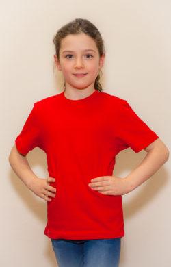 футболка детская для девочек красная
