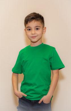футболка детская для мальчиков зеленая