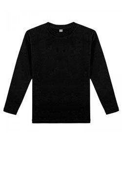 Детская футболка с длинным рукавом черная