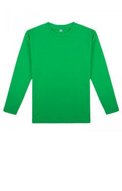 Детская футболка с длинным рукавом цвета лайм