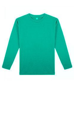 Детская футболка с длинным рукавом ментолового цвета