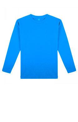Детская футболка с длинным рукавом небесного цвета