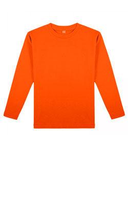 Детская футболка с длинным рукавом оранжевая