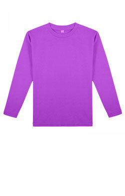 Детская футболка с длинным рукавом цвет сливы