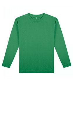 Детская футболка с длинным рукавом темно-зеленого цвета