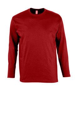 Мужская футболка с длинным рукавом бордовая
