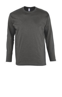 Мужская футболка с длинным рукавом меланжевая