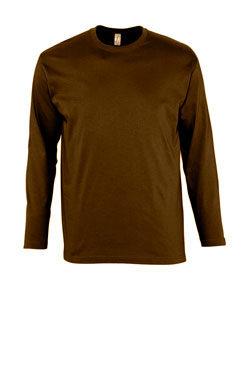 Мужская футболка с длинным рукавом цвета шоколада