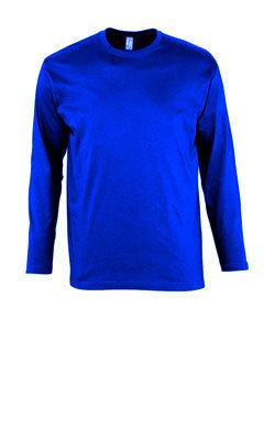 Мужская футболка с длинным рукавом синего цвета