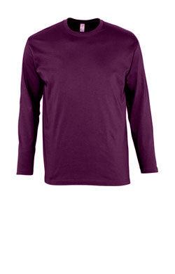 Мужская футболка с длинным рукавом цвета сирень