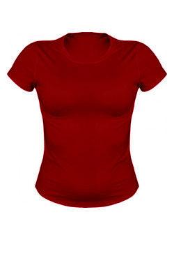 Женская футболка бордового цвета