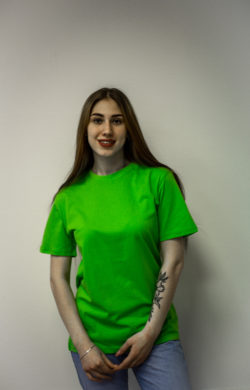 Женская футболка цвета лайм