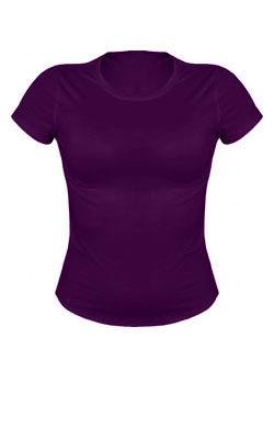 Женская футболка сиреневого цвета