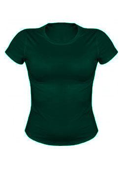 Женская футболка темно-зеленая