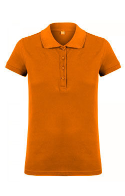 Поло женское Classic оранжевое
