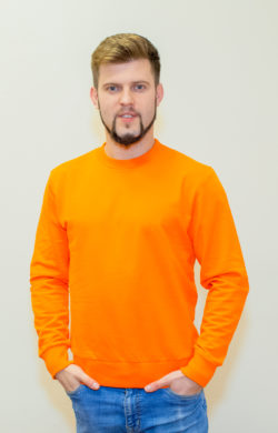 свитшот мужской мандарин