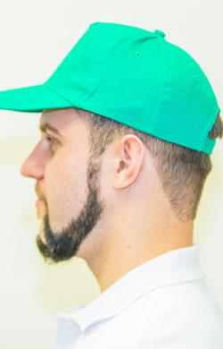 бейсболка мужская зеленая (вид сбоку)
