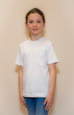 детская футболка для девочек белая