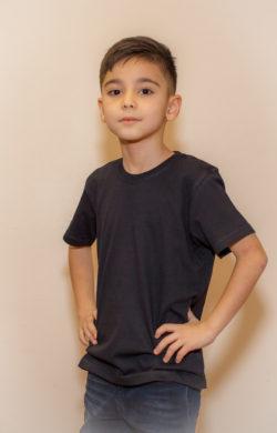 футболка детская для мальчиков черная