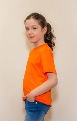 футболка детская для девочек оранжевая