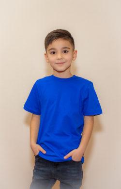 футболка детская для мальчиков синяя