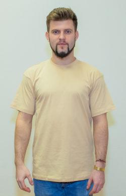 футболка мужская бежевая