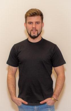 футболка мужская черная