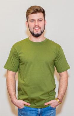 футболка мужская салатовая