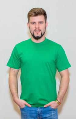 футболка мужская ярко-зеленая