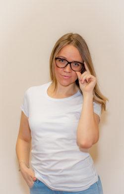 футболка женская белая