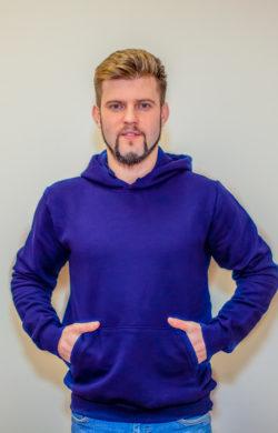 худи мужское фиолетовое