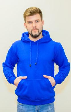 худи мужское синее