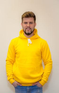 худи мужское желтое