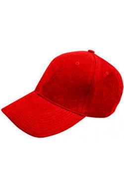Бейсболка велюр Classic красная