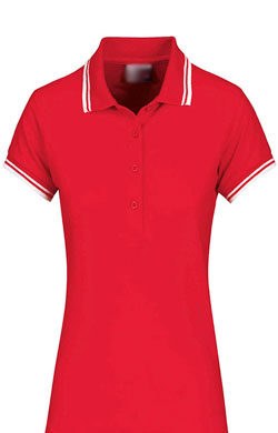 Платье поло Basic красное