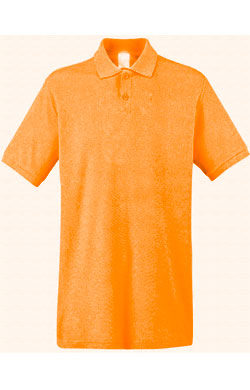 Поло однотонное Classic оранжевое