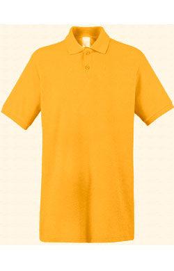 Поло однотонное Classic темно-желтое