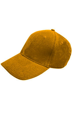 Бейсболка велюр Classic темно-желтая