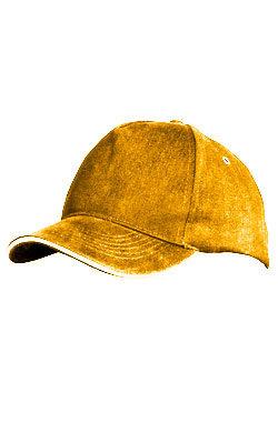 Бейсболка Premium темно-желтая
