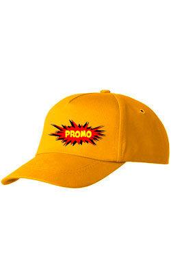 Бейсболка ПРОМО Classic темно-желтая