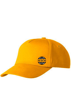 Бейсболка с логотипом Classic темно-желтая
