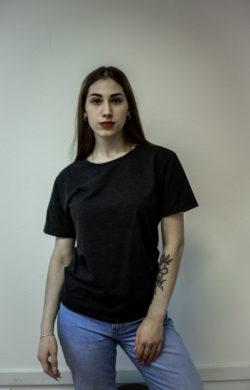 Промо футболка темно-серого цвета