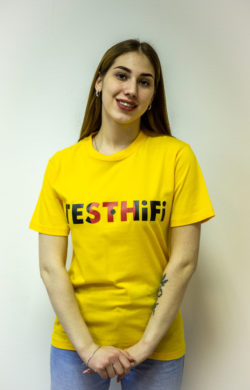 "Промо футболка желтая ""testhifi"""