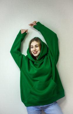 Худи зеленого цвета