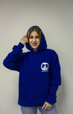 Худи синяя с логотипом компании